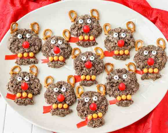 Rudolph the Red Nosed Reindeer Crispy Treats
