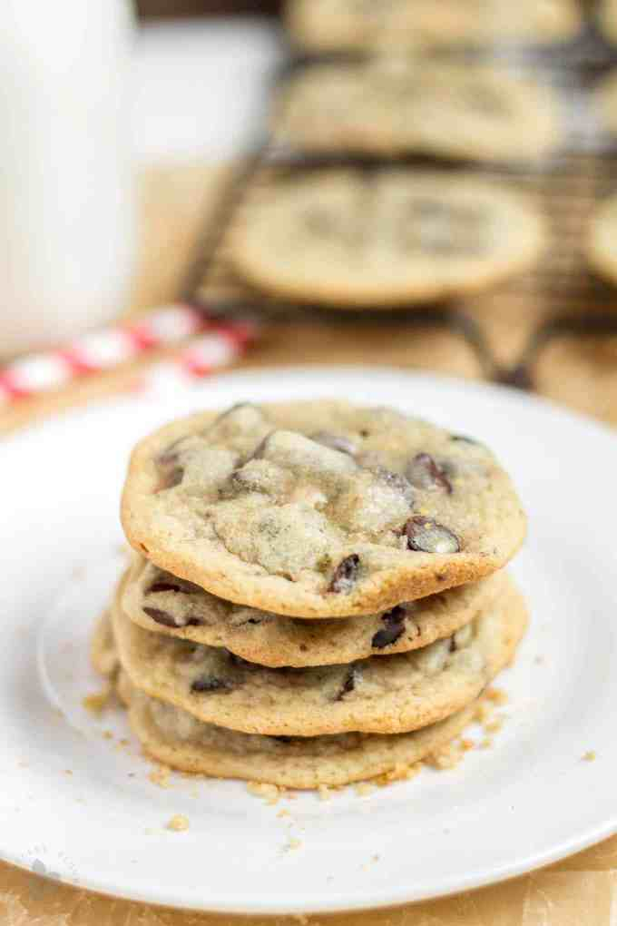 Soft, chewy, a little crunchy on the outside, buttery and sweet, these Espresso Chocolate Chip Cookies combine two of the best flavor combos, coffee and chocolate. They are a perfect pair, match made in Heaven, two peas in a pod...you get my drift. | Strawberry Blondie Kitchen
