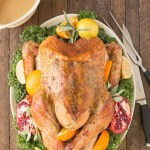 Juicy, moist and super flavorful, this Herb Roasted Turkey should be at the center of your Thanksgiving table! | Strawberry Blondie Kitchen