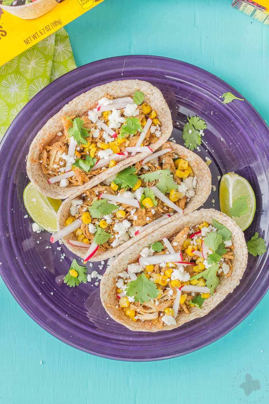 There's no better way to use up leftover Thanksgiving Turkey than Turkey Carnitas. They're perfect for Taco Tuesday, game day and a BIG crowd pleaser! | Strawberry Blondie Kitchen