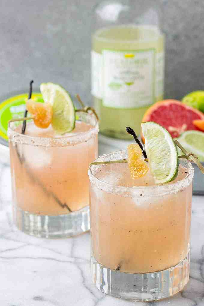 Grapefruit Ginger Vanilla Margarita | Strawberry Blondie Kitchen