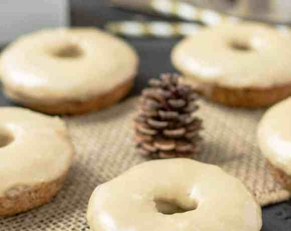 Apple Cider Donuts with Maple Frosting