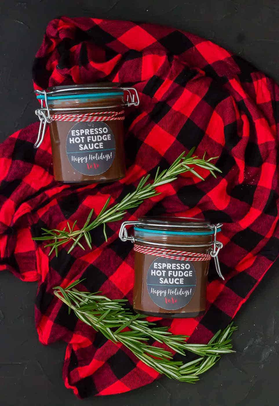 Espresso Hot Fudge Sauce is made in the slow cooker and it's the perfect holiday gift for all your friends and family this holiday season who have a strong love of coffee and chocolate! | Strawberry Blondie Kitchen