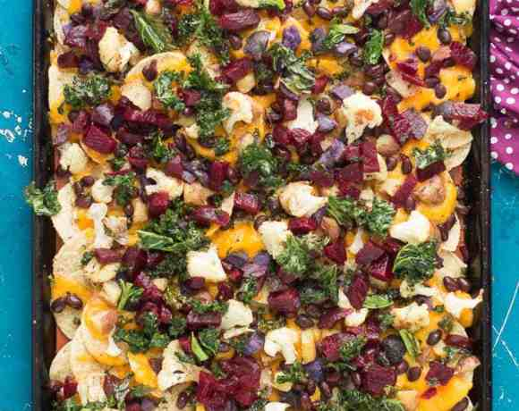 Fall Bounty Sheet Pan Nachos