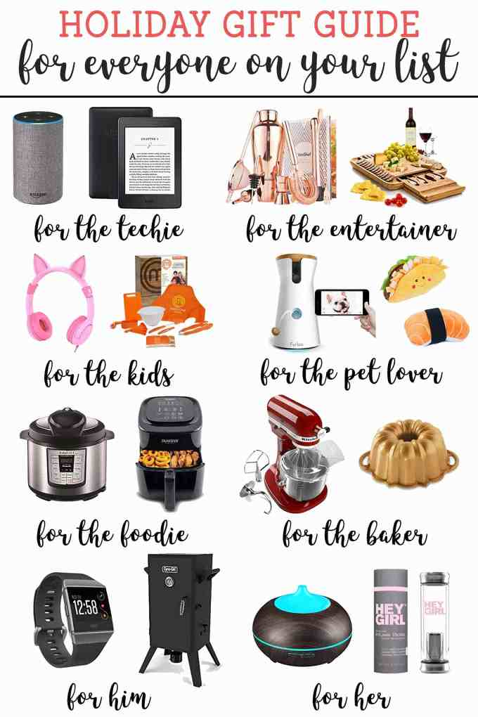 Holiday Gift Guides 2017 for everyone on your list; the foodie, the baker, the techie, the kids, the dog lover, the entertainer, for him and for her. We've got you covered this holiday season! | Strawberry Blondie Kitchen