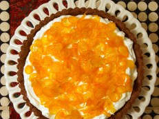 Candied Kumquat & Mascarpone Tart with Chocolate Spice Crust
