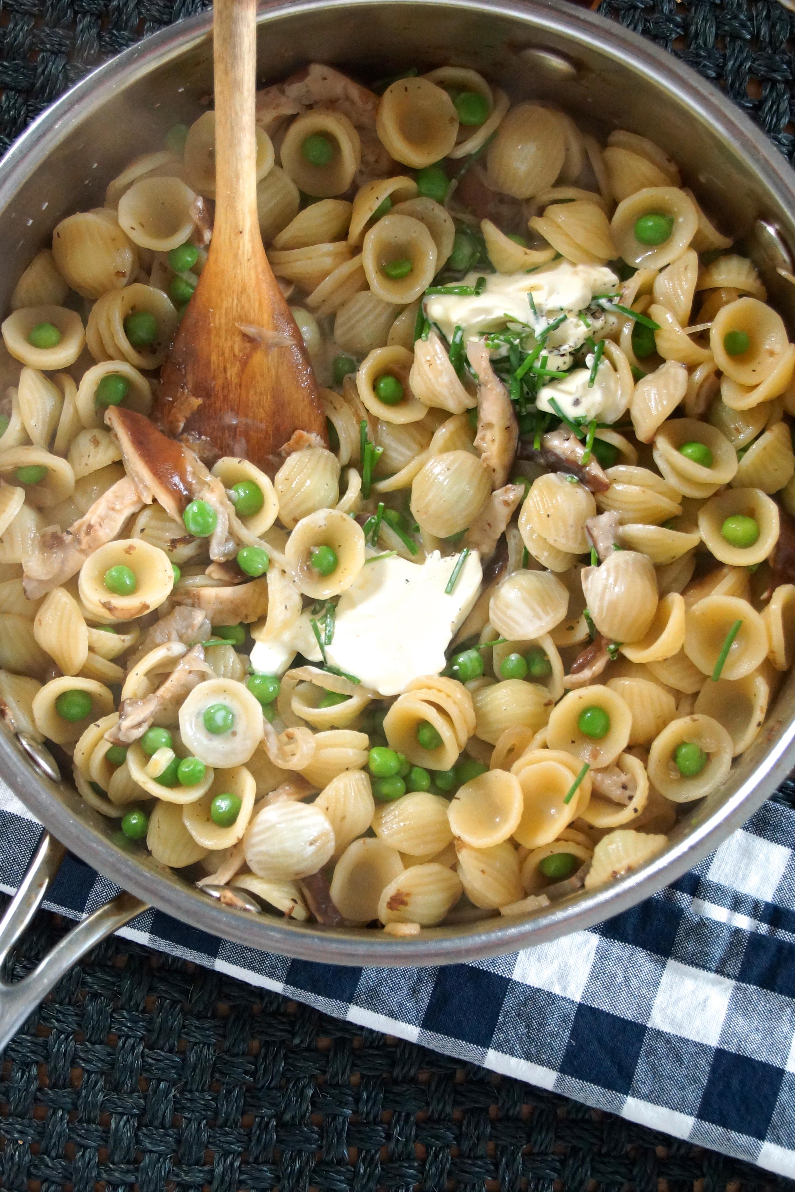 Orecchiette Pasta With Shiitake Mushrooms Amp Peas