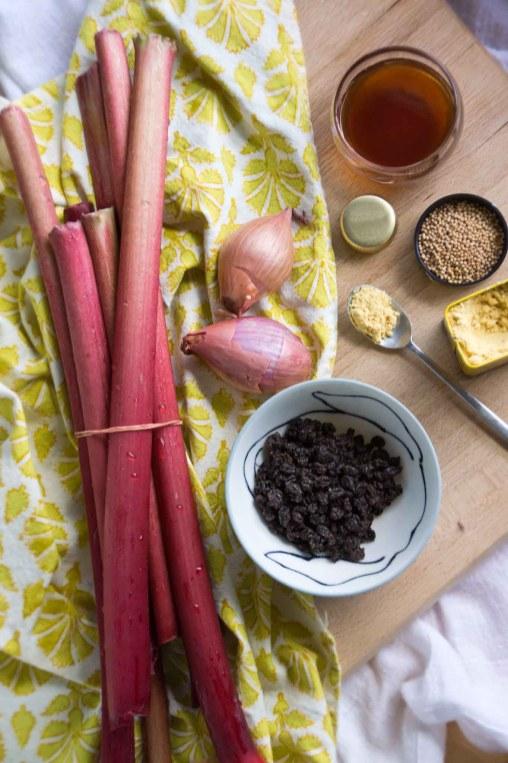 Rhubarb, Shallots, Mustard, Currants
