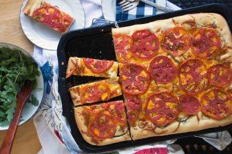 Tomato & Sharp Cheddar Focaccia