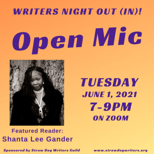 Writers Night Out June 2021 flyer