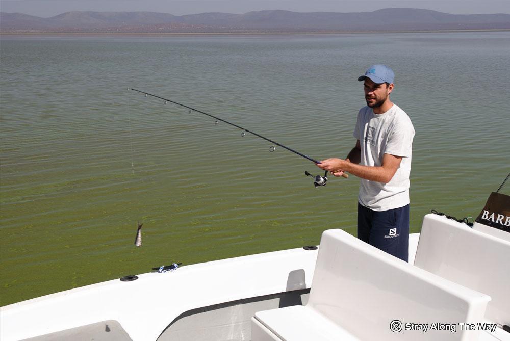 Bevan tiger fishing on Jozini Dam