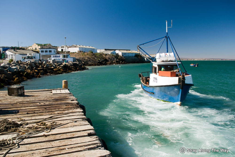 Oyster Boat at the Saldanha Harbour