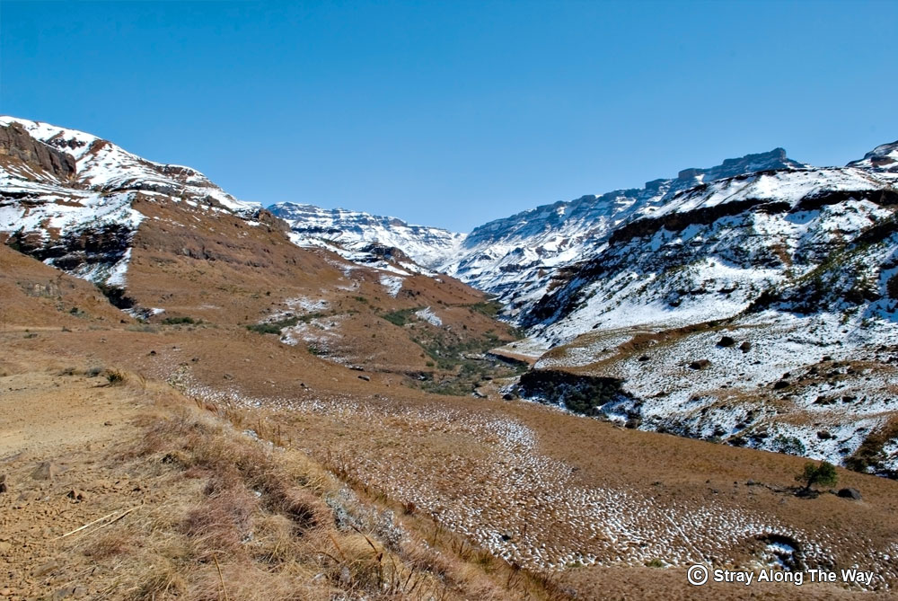 Sani Pass in winter.