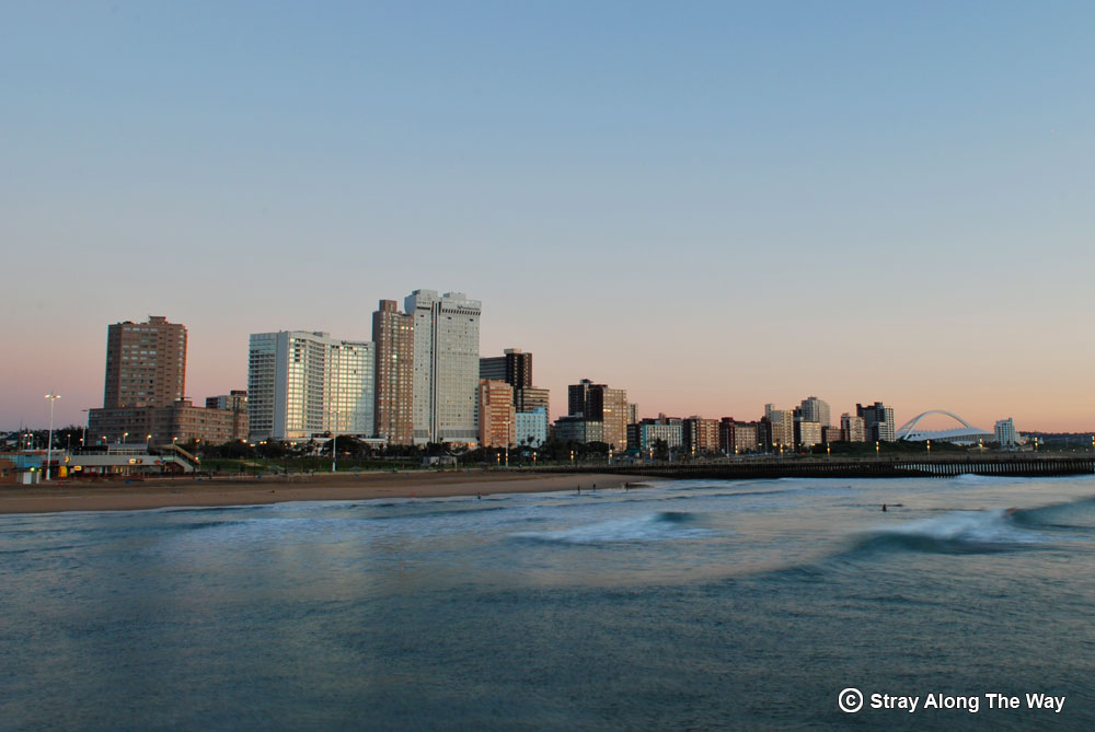 Durban beachfront on the KwaZulu-Natal road trip