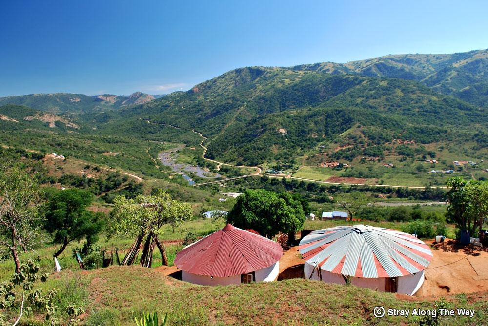 Zulu homestead valley of a thousand hills kwazulu-natal