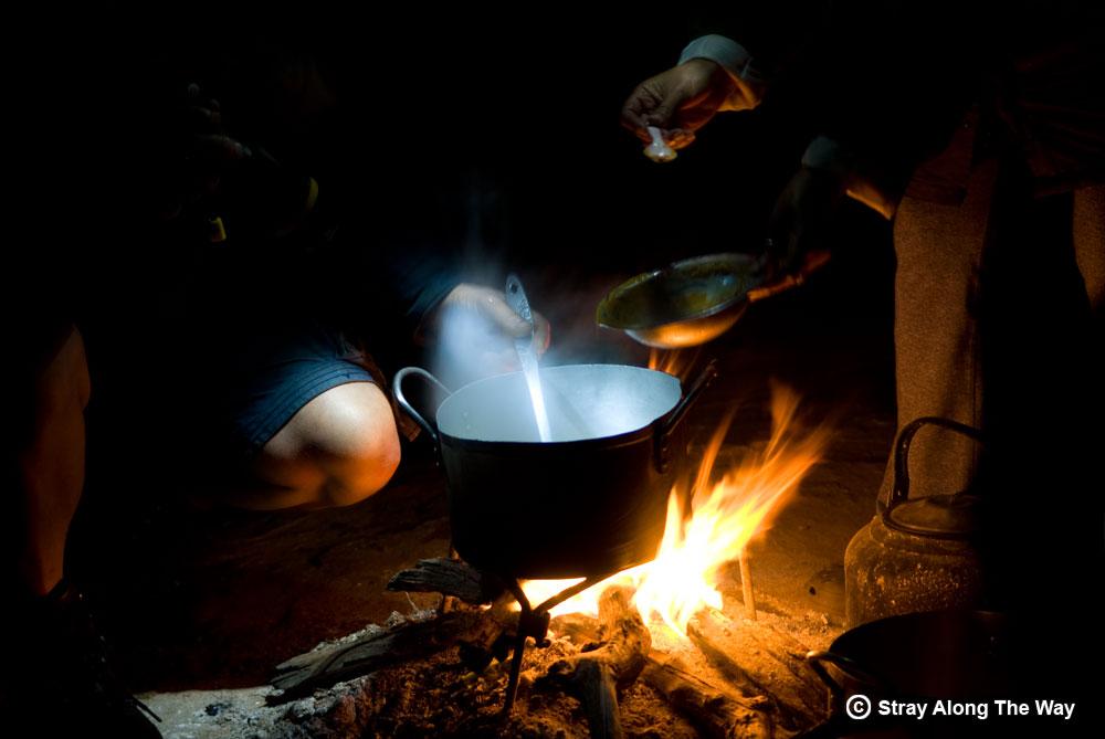 open fire cooking iMfolozi Wilderness Area