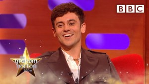 Tom Daley shows off his adorable pouch � @The Graham Norton Show �� BBC