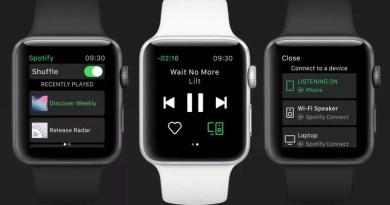 Spotify uruchomił aplikację na Apple Watch