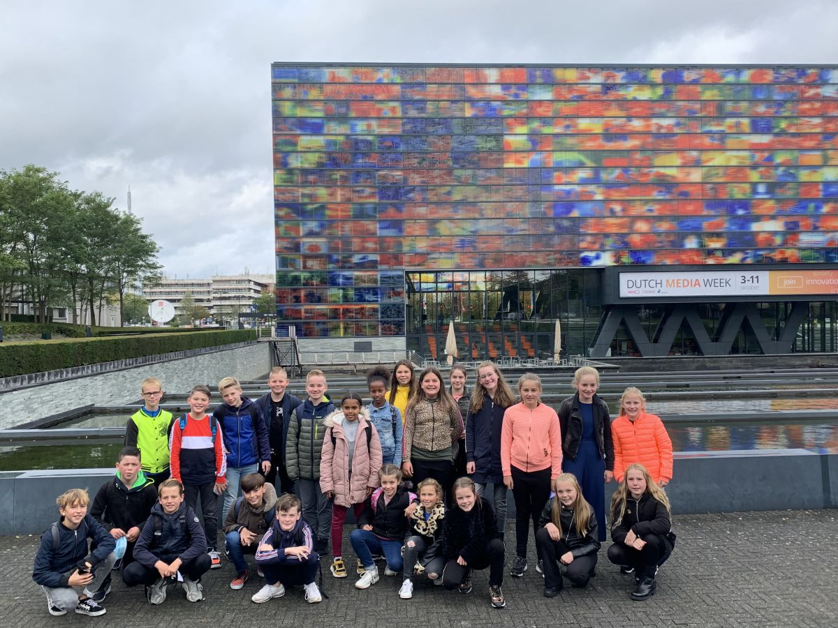 Onvergetelijk bezoek groep 8 aan Media Park Hilversum