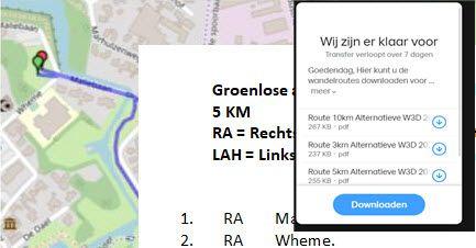 Download route voor alternatieve wandel-3-daagse