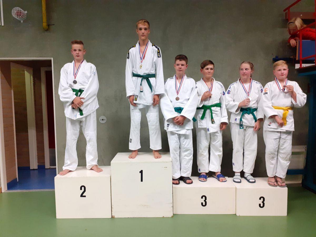 Jonge judotalenten Nippon Judo Achterhoek scoren goed op het opstaptoernooi