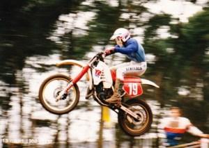 Robert op zijn 125 cc YAMAHA