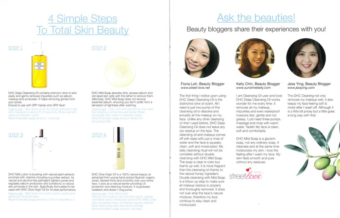 DHC Double Cleansing Essentials Booklet 4.1