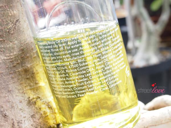 Lipidol Cleansing Body Oil Ingredients