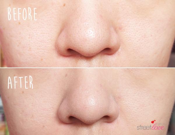 Skin Food Black Egg Pore Gel Base Before and After