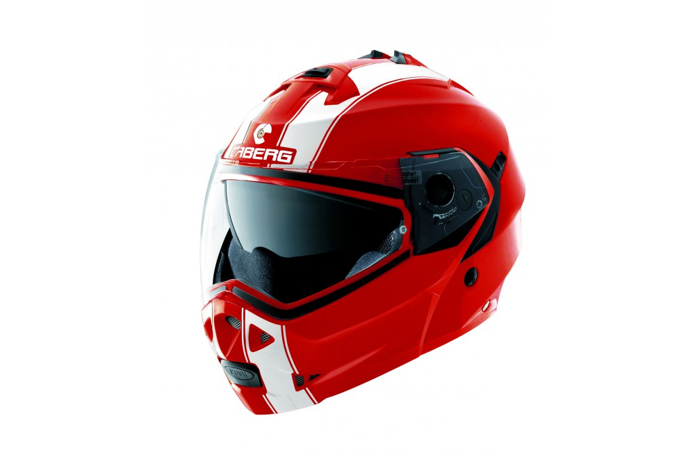Casque Moto Modulable CABERG DUKE LEGEND Rouge Blanc
