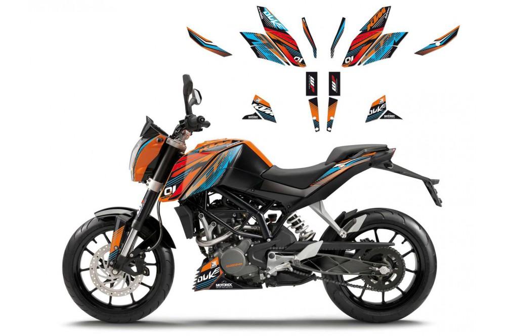 kit deco one race blackbird pour ktm 125 200 390 duke 11 16