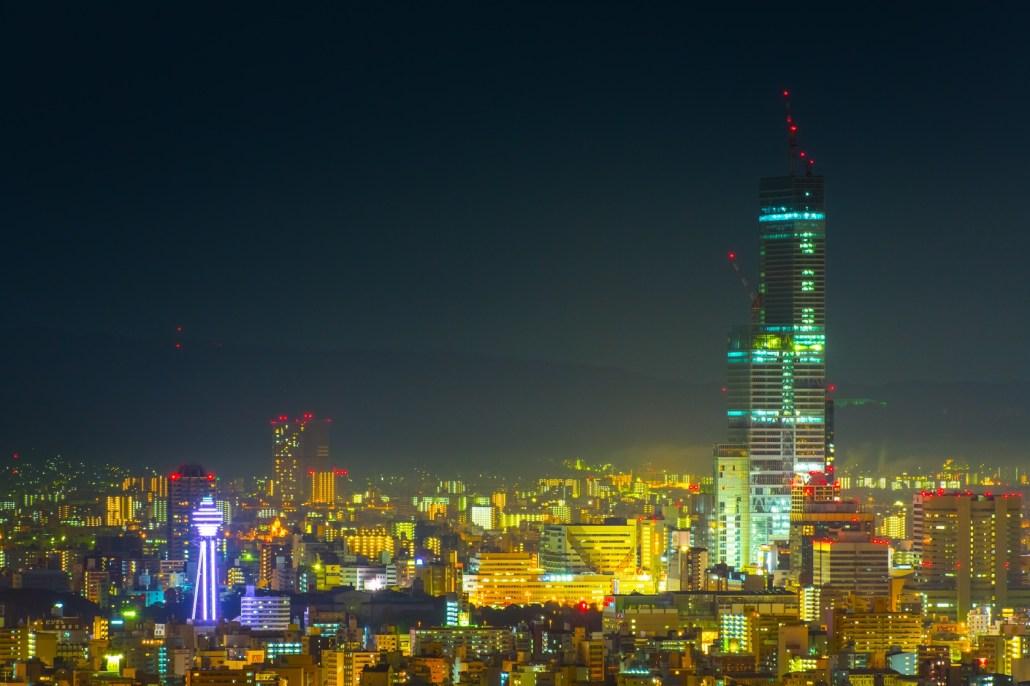 Osaka now and the bygone days(Abeno Harukas and Tsutenkaku)