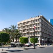チュニジア・チュニス。内務省ビル。アラブの春の始まり