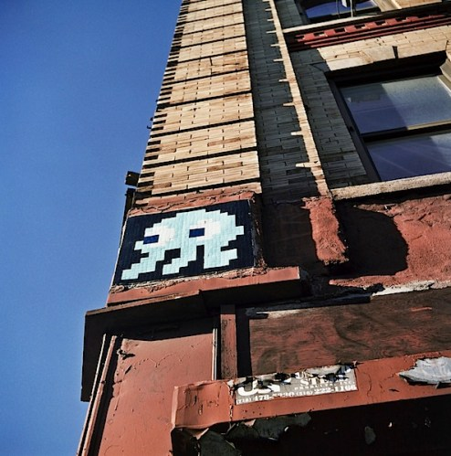 Invader street art in NYC