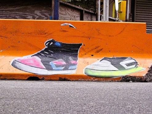 sneaker street art