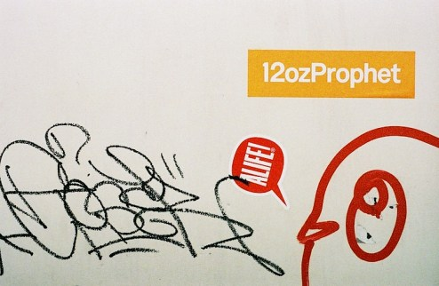 12 oz prophet sticker in NYC