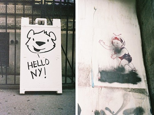 Street art by Philip Lumbang and ASVP on the streets of NYC