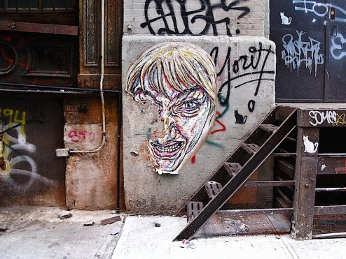 street art by quel beast in soho, nyc