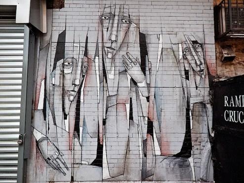 street art by damon ginandes - vigil - in nyc