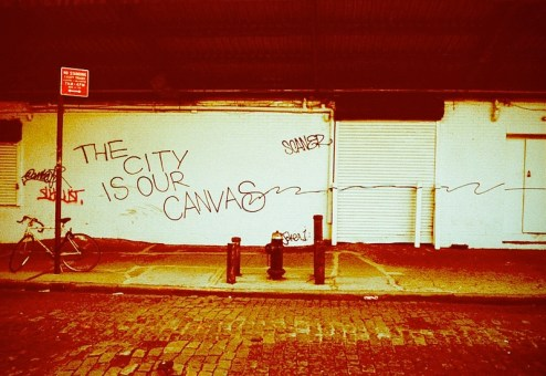 the city is our canvas street art by joker and scaner in the meatpacking district of MYC
