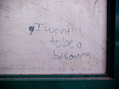 i want to be a billionaire graffiti in NYC