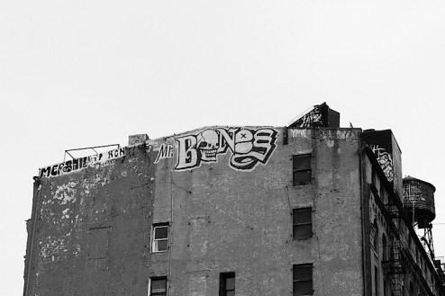 graffiti by mr. bones in chinatown, NYC