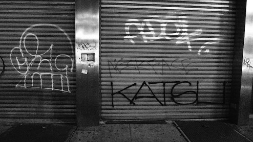 graffiti by katsu and neckface on the bowery, NYC
