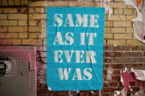 same as it ever was street art in the meatpacking district of NYC