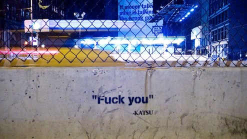fuck you by katsu in NYC
