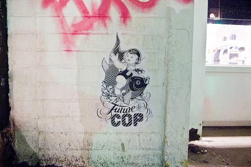 future cop street art by ASVP