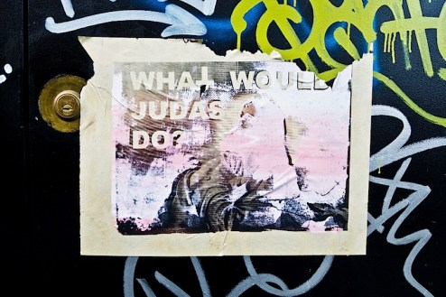 what would judas do street art in NYC