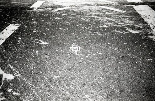 street art by stikman found in lower manhattan, nyc