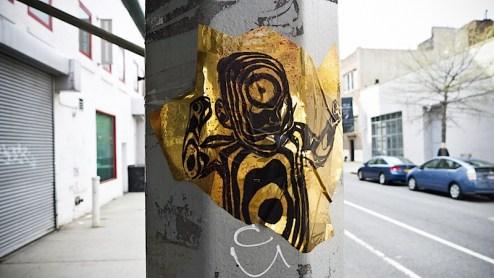 the golden child street art found in nyc