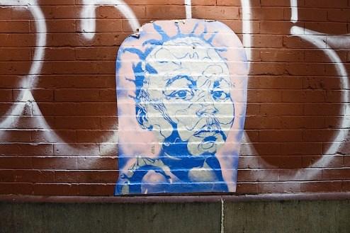 wheatpaste street art in brooklyn, nyc